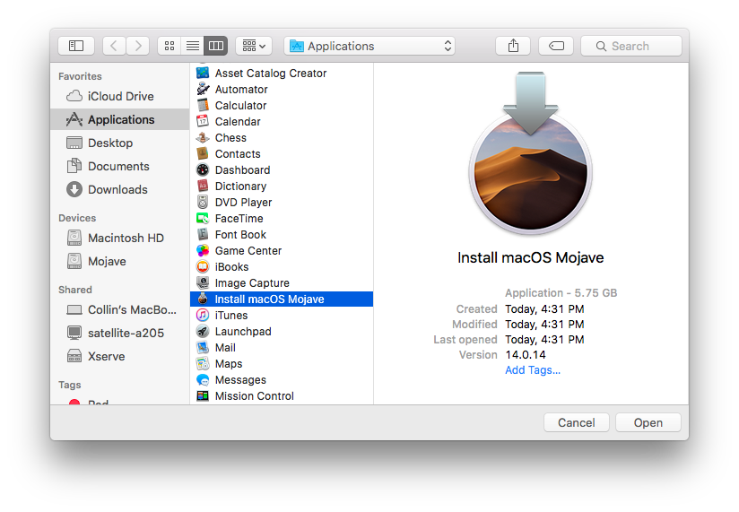 mac os x mojave download